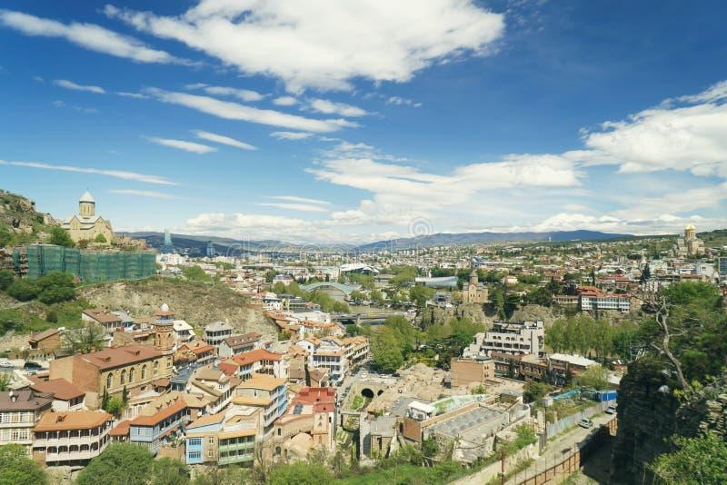Veja o monte à cidade de Tbilisi imagem de stock royalty free
