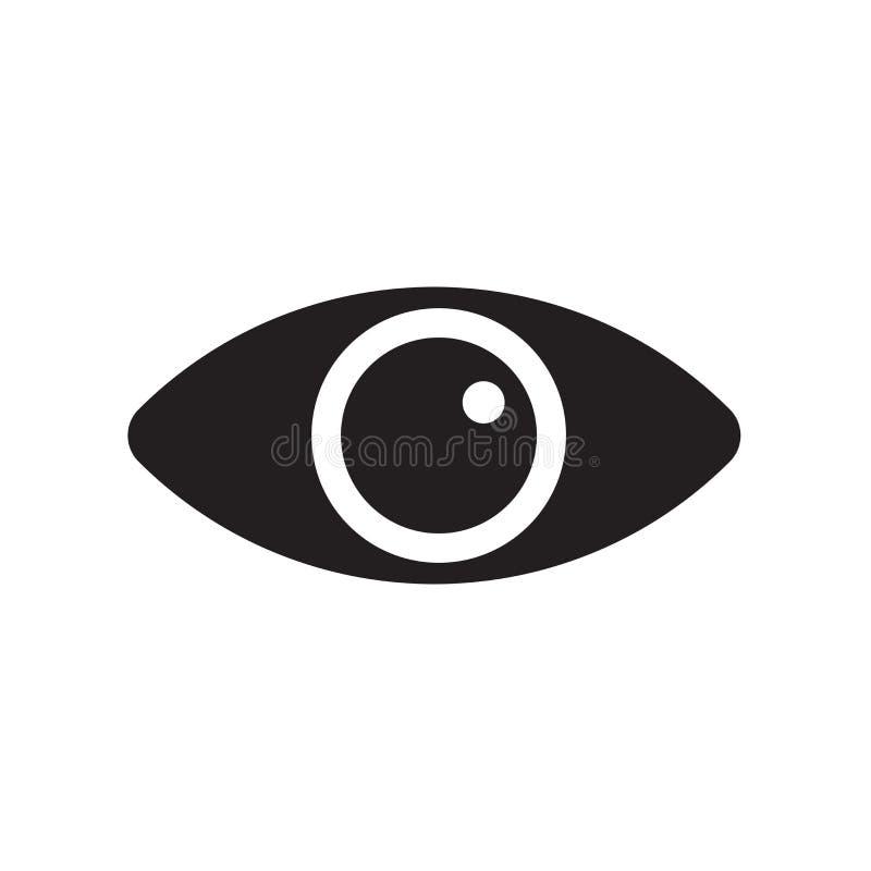 Veja o sinal e o símbolo do vetor do ícone isolados no fundo branco, V ilustração stock