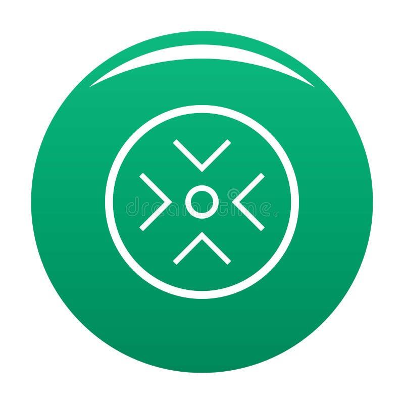 Veja o verde do vetor do ícone do radar ilustração stock