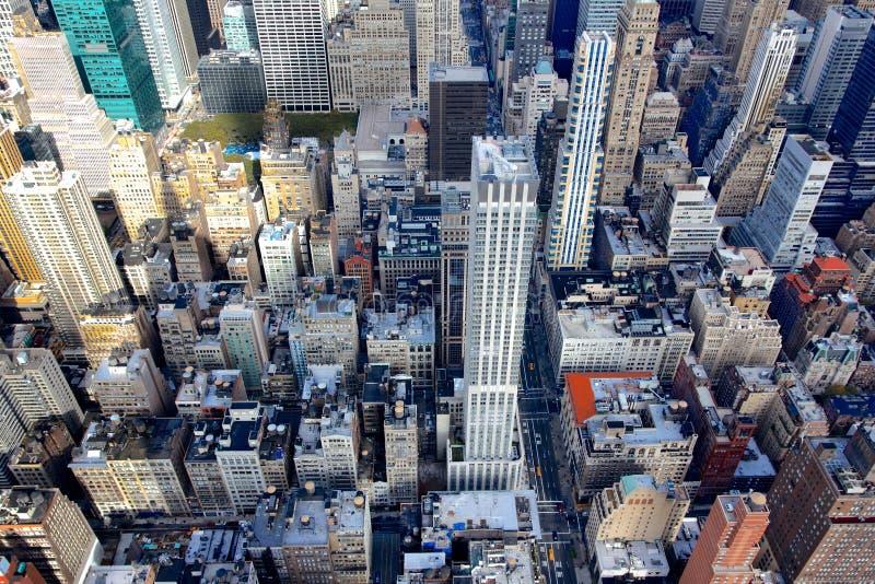 Veja para baixo no Midtown foto de stock