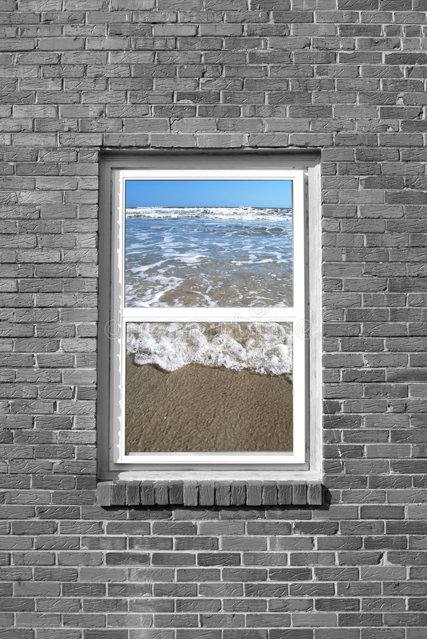 Veja a praia imagens de stock royalty free