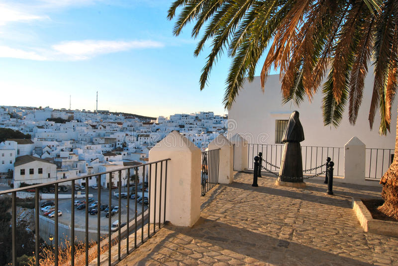 Vejer de la Frontera, Spain. A view of the white village of Vejer de la frontera, in the south of Spain royalty free stock photos