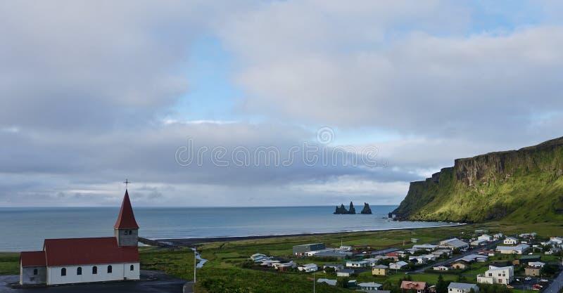 Vek,冰岛风景 免版税图库摄影