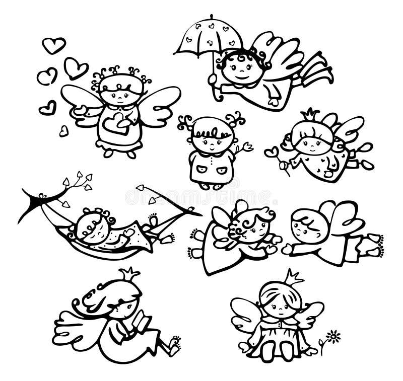 Vektorängeltecknade filmer vektor illustrationer