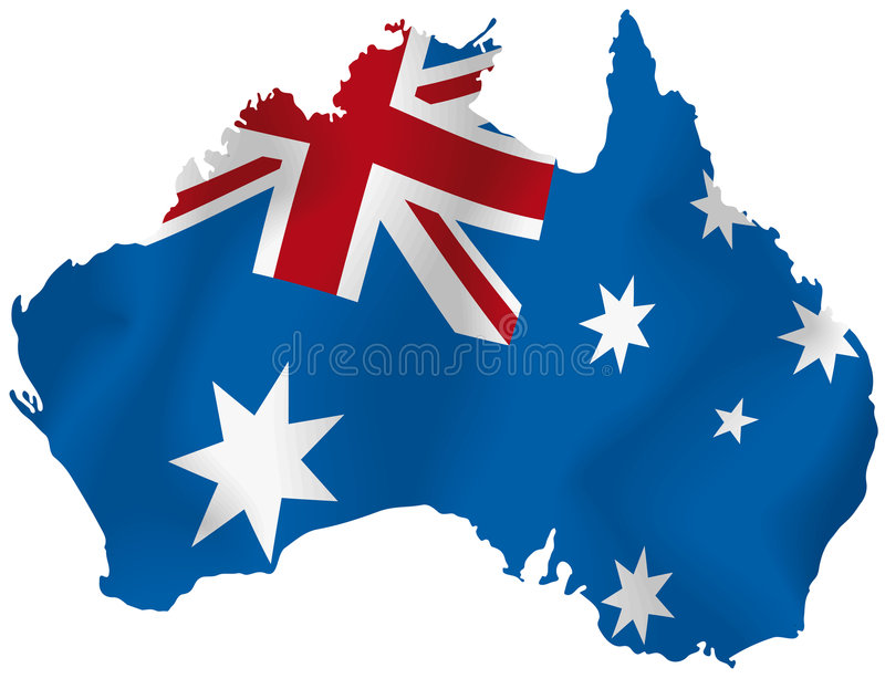 Vektoröversikt av Australien royaltyfri illustrationer