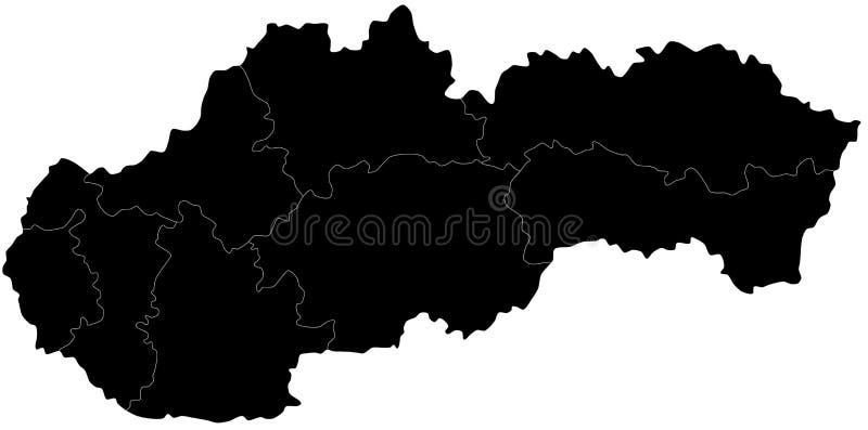 Vektoröversikt av Slovakien stock illustrationer