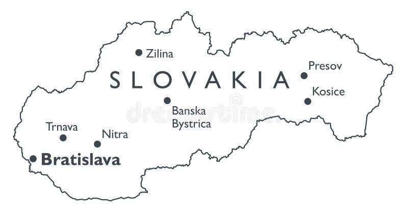 Vektoröversikt av Slovakien vektor illustrationer