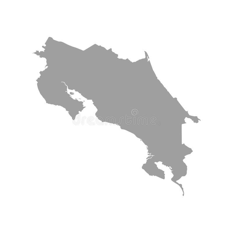 Vektoröversikt-Costa Rica land på vit bakgrund stock illustrationer