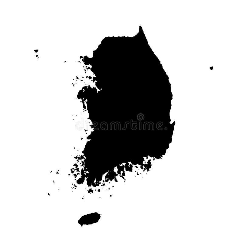 Vektoröversikt Sydkorea Isolerad vektorillustration - upps?ttning av isolerade vektorsymboler stock illustrationer