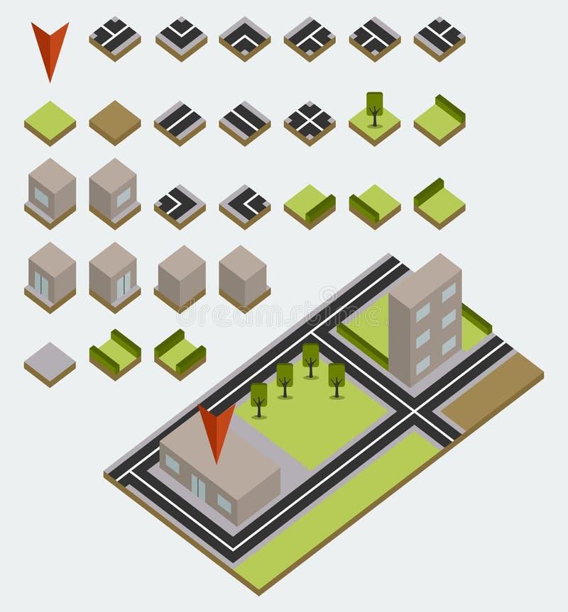 Vektoröversiktssats stock illustrationer
