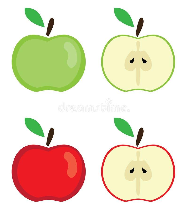 Vektor-Äpfel eingestellt stock abbildung