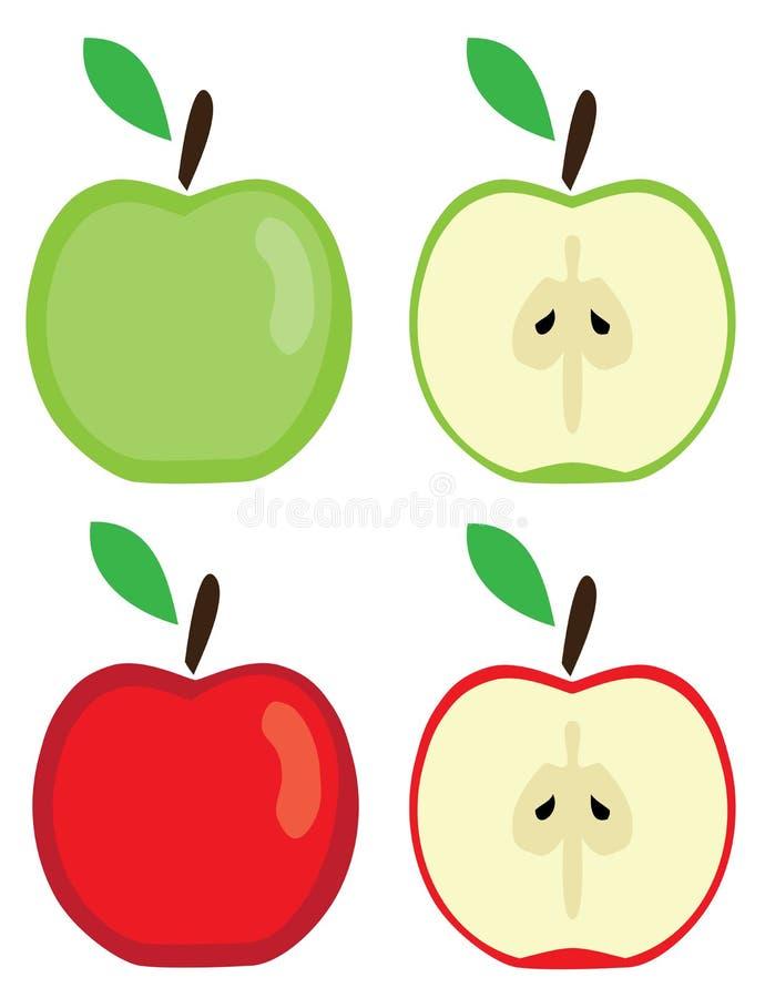 Vektor-Äpfel eingestellt lizenzfreie abbildung