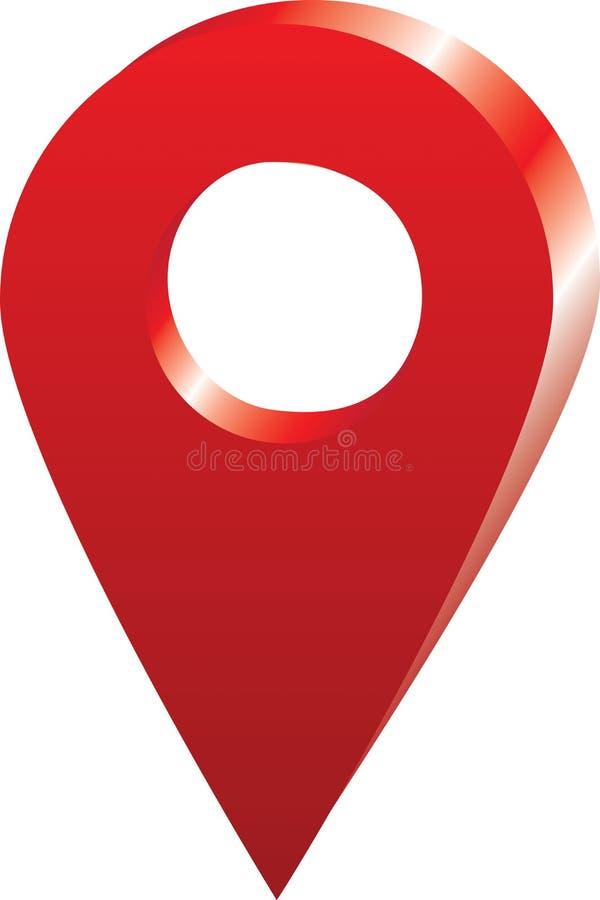 Vektor - översiktsPin Icon Location On Google översikt royaltyfria foton
