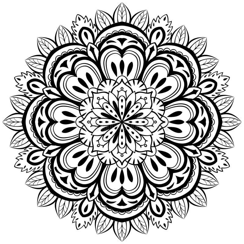 Vektor, Abstrakte Mandala Auf Einem Weißen Hintergrund Vektor ...