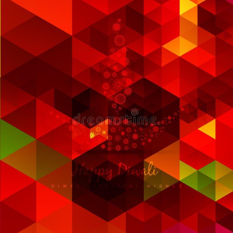 Vektor abstrakter diwali Entwurf stock abbildung