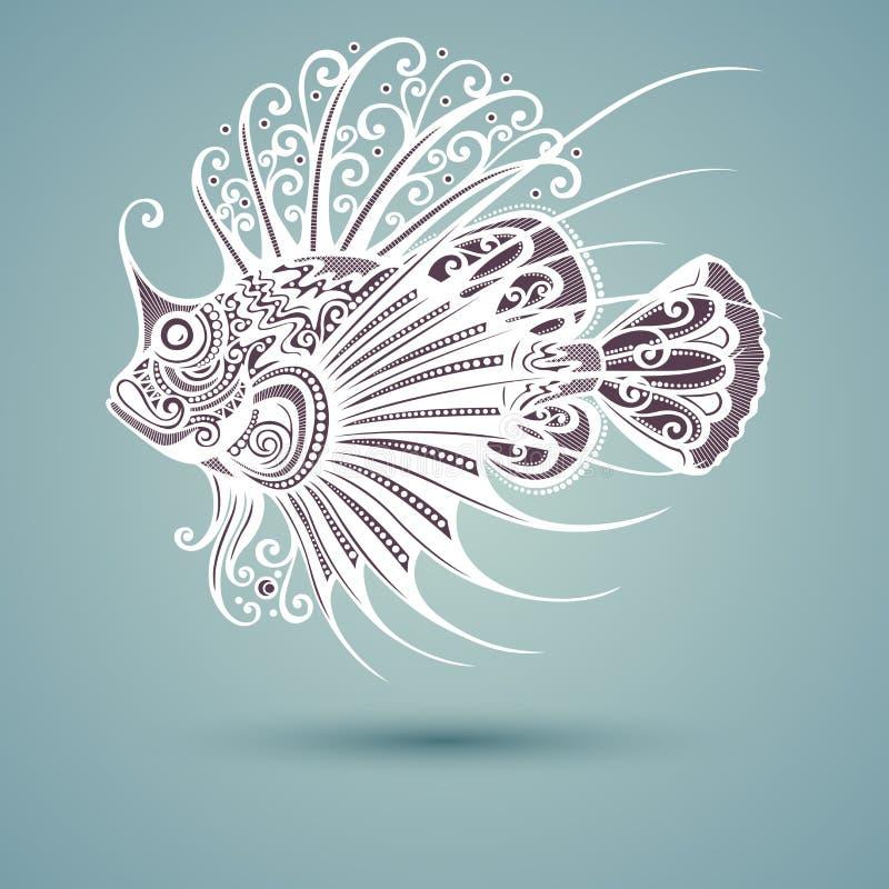Vektor-abstrakter Seefisch vektor abbildung