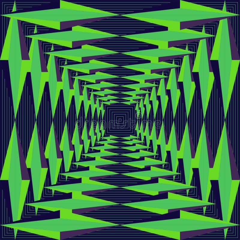 Download Vektor-abstraktes Geometrisches Nahtloses Muster-Design Vektor Abbildung - Illustration von dekor, muster: 96933393