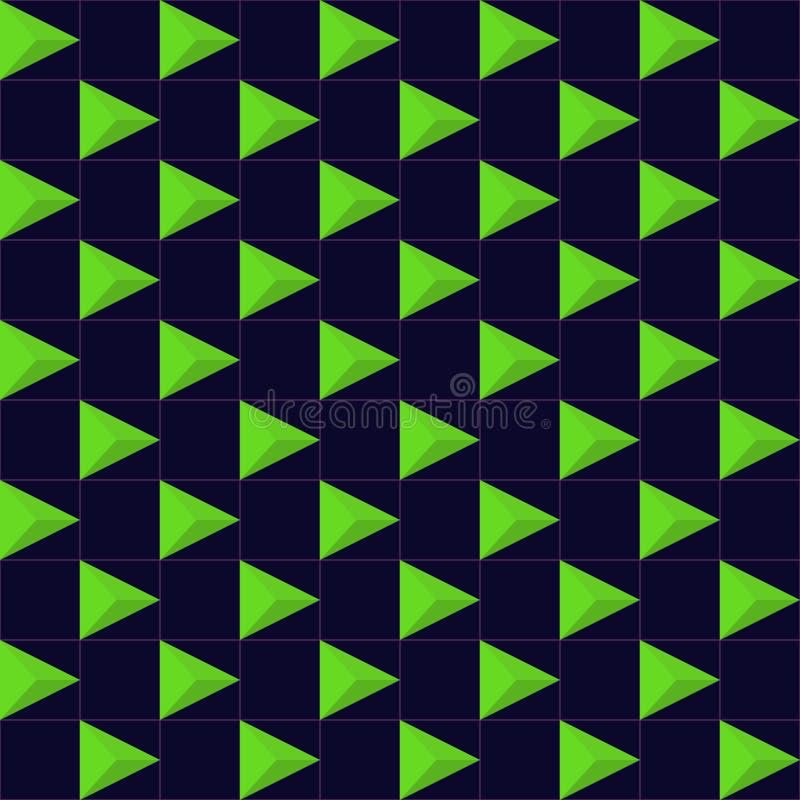 Download Vektor-abstraktes Geometrisches Nahtloses Muster-Design Vektor Abbildung - Illustration von schicht, auslegung: 96933603