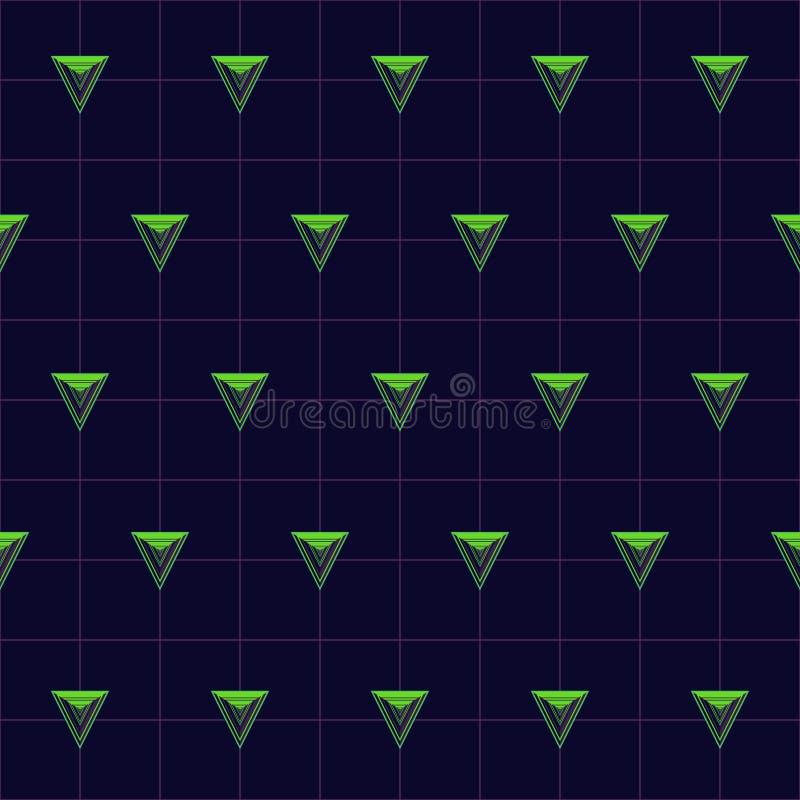 Download Vektor-abstraktes Geometrisches Nahtloses Muster-Design Vektor Abbildung - Illustration von grün, perspektive: 96933614