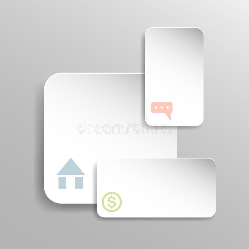 Vektor abstraktes Papierinfographic 3d lizenzfreie abbildung