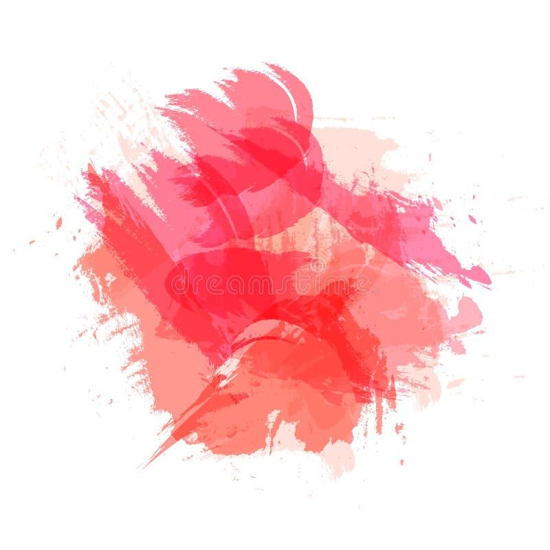 Vektor Abtract-Bürsten-Anschläge, Schmutz-Art, Hintergrund, Lebencoral color lizenzfreie abbildung