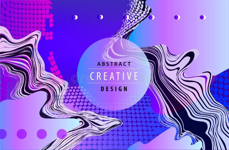 Vektor abtract fl?ssiger Hintergrund, fl?ssiges Plakat, Abdeckung kreative Schablone, Karte Geometrischer Entwurf 3d, vektor abbildung
