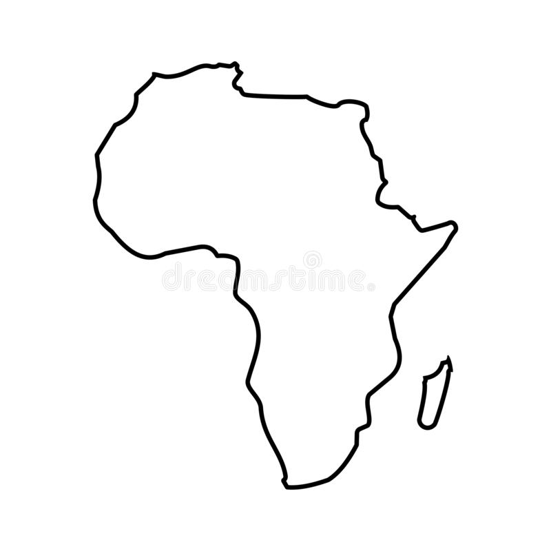 Vektor AFRIKA-Kartenikone Vektorillustration auf Lager 3 lizenzfreie abbildung