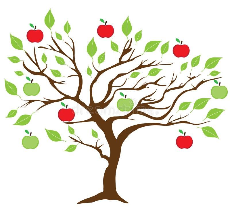 Vektor-Apfelbaum lizenzfreie abbildung