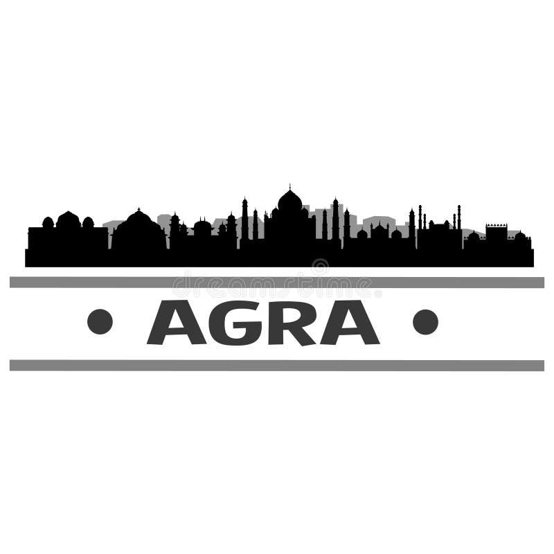 Vektor Art Design för symbol för Agra horisontstad stock illustrationer