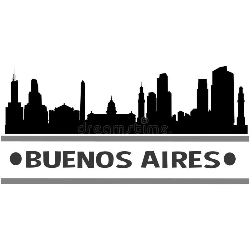 Vektor Art Design för symbol för Buenos Aires horisontstad royaltyfri illustrationer