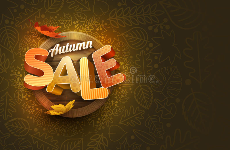 Vektor Autumn Sale Design stock abbildung