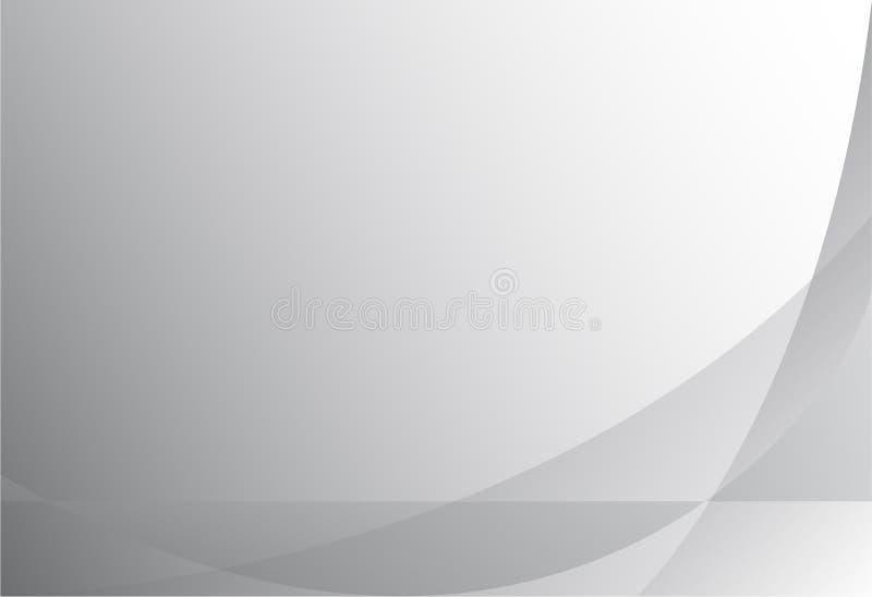 Vektor av abstrakt modern grå geometrisk bakgrund royaltyfri illustrationer