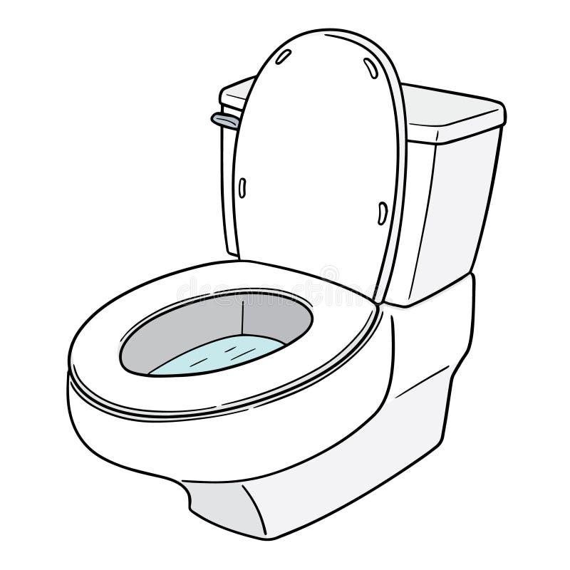 Vektor av den släta toaletten stock illustrationer