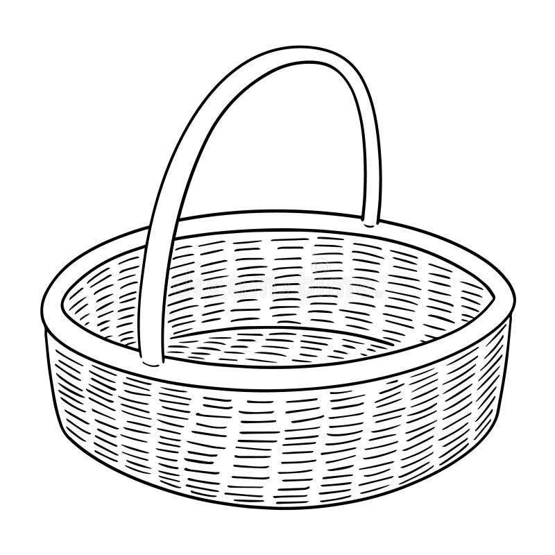 Vektor av den vide- korgen stock illustrationer
