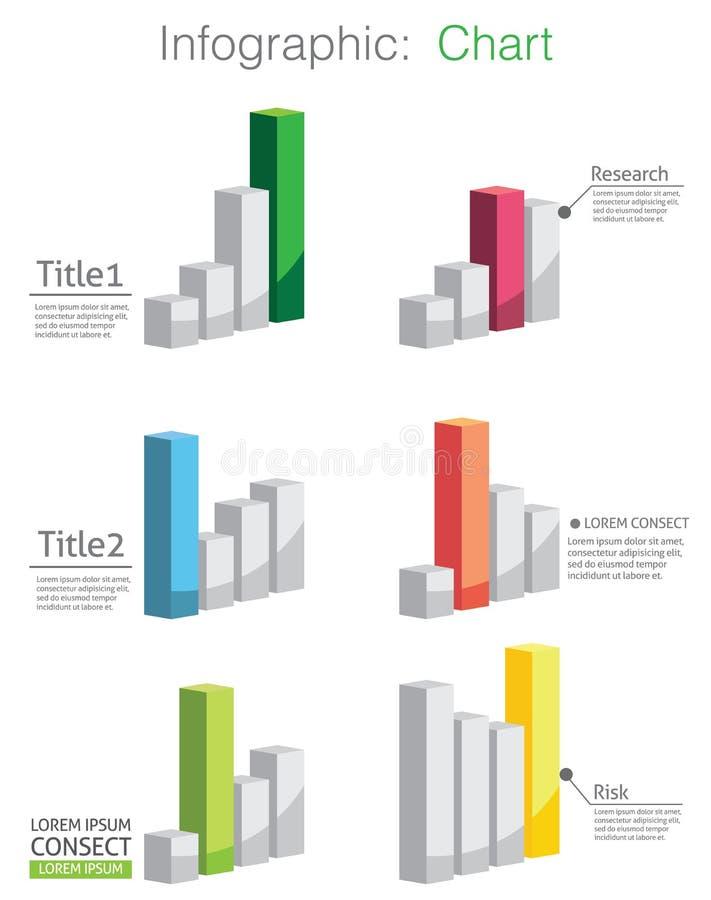 Vektor av det abstrakta diagrammet och information-diagrammet royaltyfri illustrationer