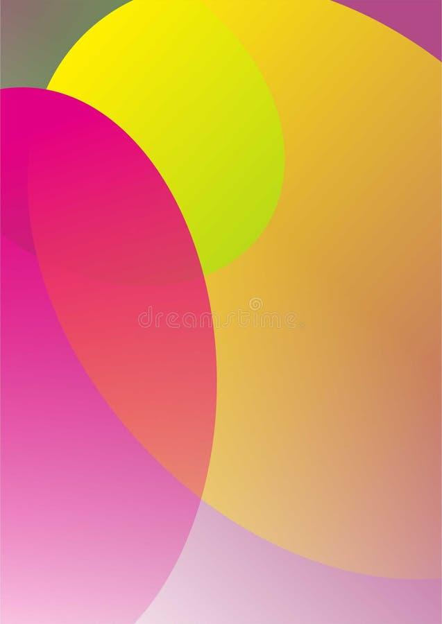 Vektor av en mycket härlig abstrakt färg arkivbild