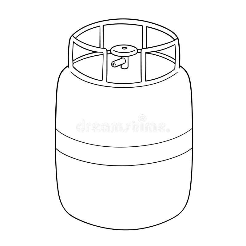 Vektor av gasbehållaren vektor illustrationer
