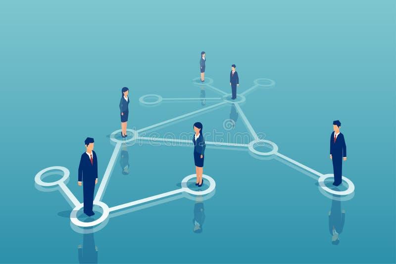 Vektor av gruppen av businesspeoplenätverkande stock illustrationer