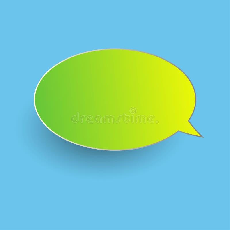 Vektor av klistermärkear av anförandebubblor Tom tom anförandebub stock illustrationer