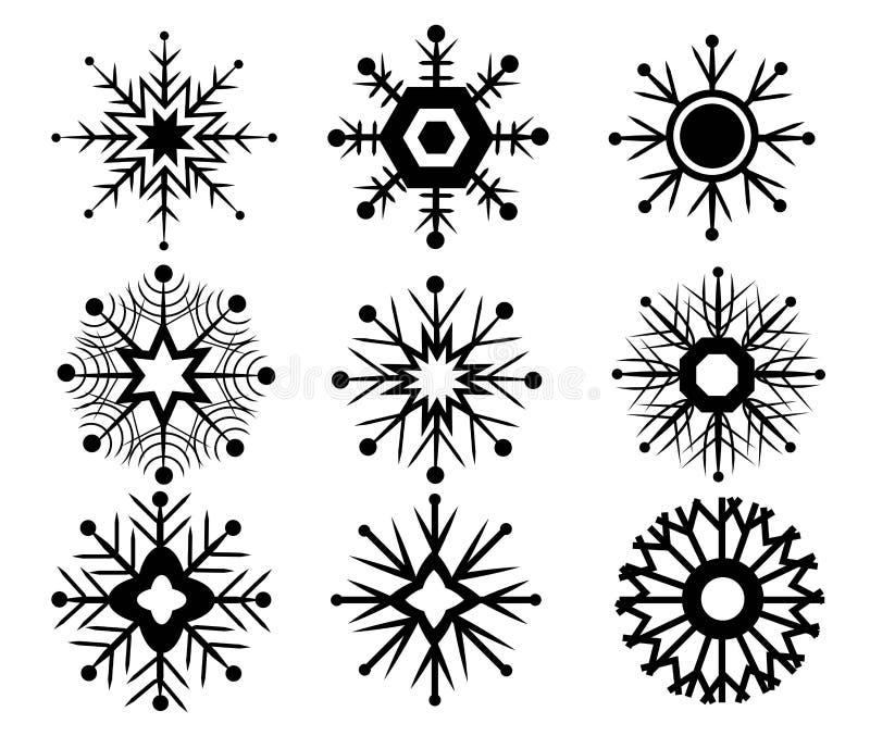 Vektor av snösymbolen stock illustrationer