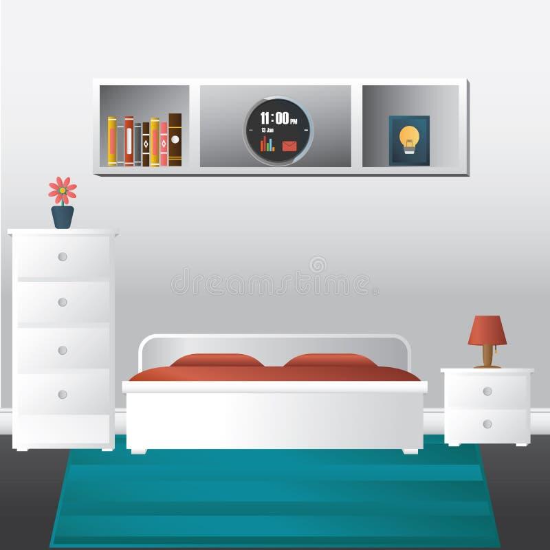 Vektor av sovrummet royaltyfri illustrationer