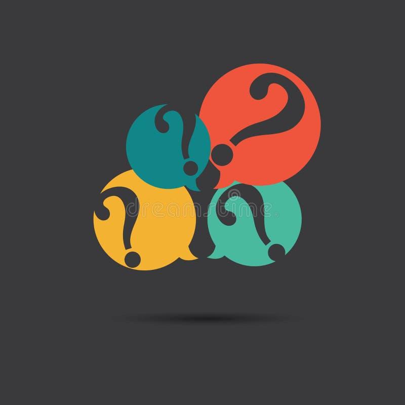 Vektor av symbolen för frågefläckar royaltyfri illustrationer