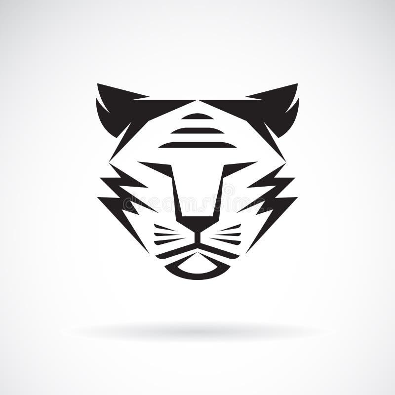 Vektor av tigerframsidadesignen på vit bakgrund wild djur Tigerlogo eller symbol Lätt redigerbar i lager vektorillustration vektor illustrationer