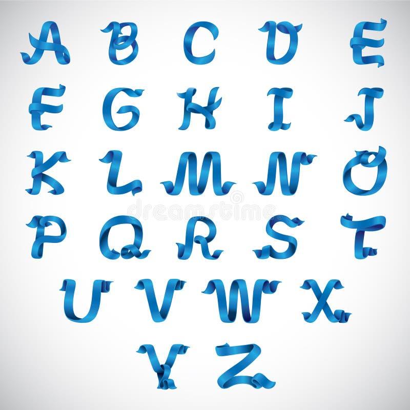 Vektor-Band-Alphabet A bis Z lizenzfreie abbildung