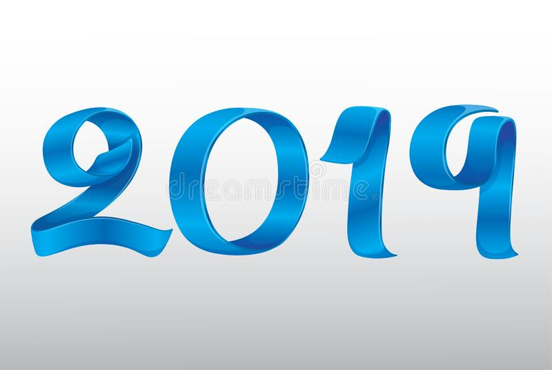 Vektor-Band-neues Jahr 2019 vektor abbildung