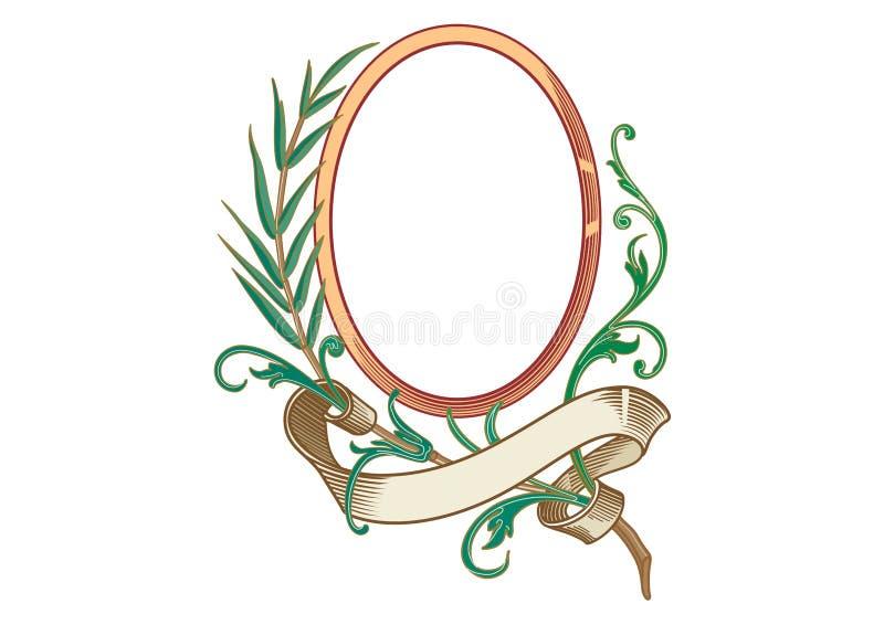 Vektor - barocka ramar och dekorativa beståndsdelar - tappningbaner med bandet stock illustrationer