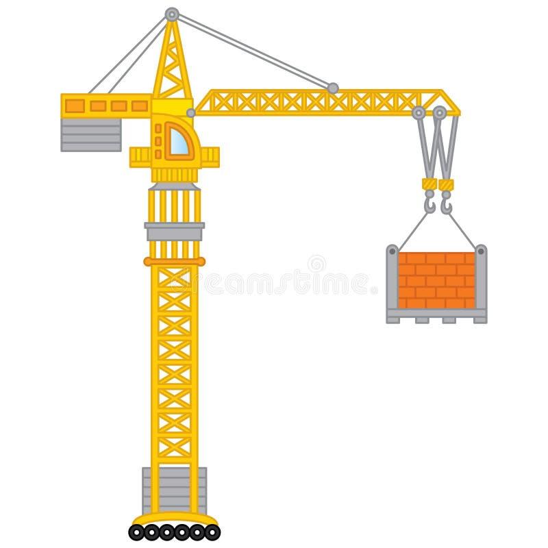 Vektor-Bau-Kran Vektor-Kran lizenzfreie abbildung