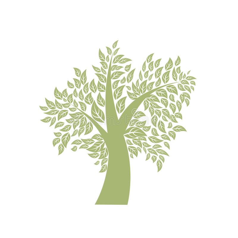 Vektor-Baum-Illustration lizenzfreie abbildung