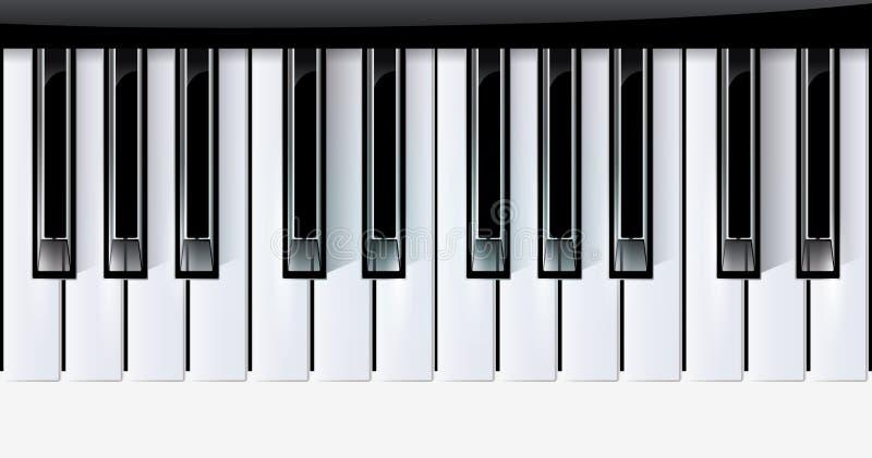 Vektor befestigt Klaviermusikinstrument. eps10 stock abbildung