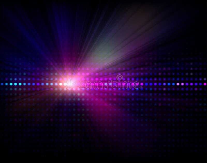 Vektor beleuchtet Hintergrund stock abbildung